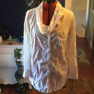 Cowl-neck blouse, tunic-length